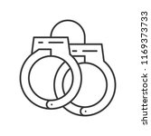 handcuffs  police related icon  ...   Shutterstock .eps vector #1169373733