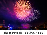 crowd of people looking at red  ... | Shutterstock . vector #1169374513