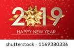 happy new year 2019 winter... | Shutterstock .eps vector #1169380336