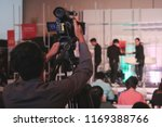 photographer video recording... | Shutterstock . vector #1169388766