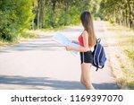 young girl wearing red t shirt  ... | Shutterstock . vector #1169397070