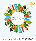 zurich switzerland city skyline ...   Shutterstock .eps vector #1169399740