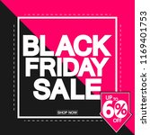 black friday sale  poster... | Shutterstock .eps vector #1169401753
