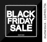 black friday sale  poster... | Shutterstock .eps vector #1169401756