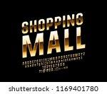 vector golden sign shopping... | Shutterstock .eps vector #1169401780