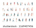 vector flat people isolated on... | Shutterstock .eps vector #1169407456