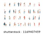 vector flat people isolated on... | Shutterstock .eps vector #1169407459