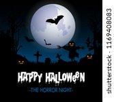 spooky halloween background... | Shutterstock .eps vector #1169408083