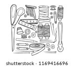 vector graphic set of hand... | Shutterstock .eps vector #1169416696