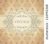 vintage frame | Shutterstock .eps vector #116942368