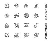 space outline icon set. 10 eps... | Shutterstock .eps vector #1169424109