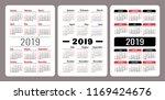 calendar 2019. english vector...   Shutterstock .eps vector #1169424676