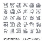 simple line icon set of party... | Shutterstock .eps vector #1169432593