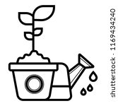 watering the flower icon vector   Shutterstock .eps vector #1169434240