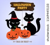 design of halloween party text... | Shutterstock .eps vector #1169445133