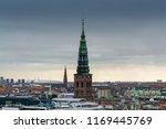 aerial view of copenhagen city...
