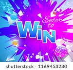 enter to win theme on... | Shutterstock .eps vector #1169453230