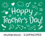 happy teachers day greeting... | Shutterstock .eps vector #1169461903