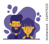 couple characters with paint... | Shutterstock .eps vector #1169475223