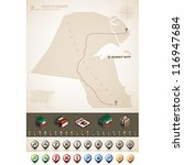 kuwait and asia maps  plus... | Shutterstock .eps vector #116947684