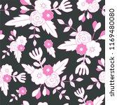beautiful floral seamless... | Shutterstock .eps vector #1169480080