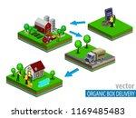 organic market concept. vector... | Shutterstock .eps vector #1169485483