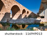 the bridge is destroyed. is a... | Shutterstock . vector #116949013