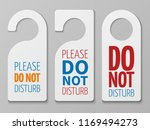 do not disturb room signs.... | Shutterstock . vector #1169494273