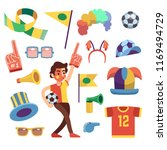 soccer sports funs with tools... | Shutterstock . vector #1169494729