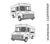 food truck logo element design | Shutterstock .eps vector #1169494969