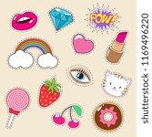 cute colourful girl fashion... | Shutterstock . vector #1169496220