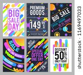 modern and trendy sale banners... | Shutterstock . vector #1169497033
