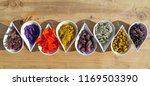 herbs and flowers used in ... | Shutterstock . vector #1169503390