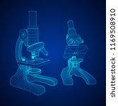 microscope biology school... | Shutterstock .eps vector #1169508910
