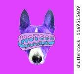 hot dog. contemporary art ...   Shutterstock . vector #1169515609