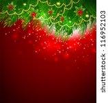 xmas branch | Shutterstock . vector #116952103