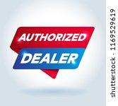 authorized dealer arrow tag... | Shutterstock .eps vector #1169529619