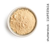 bowl of maca powder isolated on ... | Shutterstock . vector #1169535616