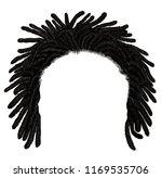 trendy african long  hair... | Shutterstock .eps vector #1169535706