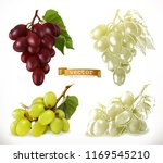 grapes. 3d realism and...   Shutterstock .eps vector #1169545210