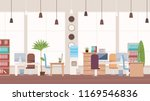 office interior and workspace.... | Shutterstock .eps vector #1169546836