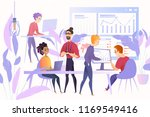 financial analysts at work... | Shutterstock .eps vector #1169549416