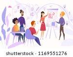 business team at work cartoon... | Shutterstock .eps vector #1169551276