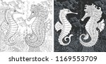 coloring page. coloring book.... | Shutterstock .eps vector #1169553709