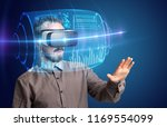 amazed businessman with high... | Shutterstock . vector #1169554099
