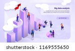 big data analysis isometric... | Shutterstock .eps vector #1169555650