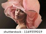 beautiful young woman wearing... | Shutterstock . vector #1169559019