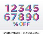 0  1  2  3  4  5  6  7  8  9... | Shutterstock .eps vector #1169567353