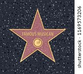 star on holywood walk of fame... | Shutterstock .eps vector #1169573206