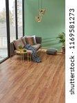 turquoise living room corner.... | Shutterstock . vector #1169581273